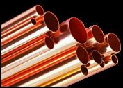Tubo de cobre com revestimento em PVC